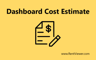 How to estimate the cost of a dashboard